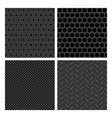 Seamless Metal Texture Patterns vector image