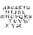 Watercolor hand drawn alphabet vector image