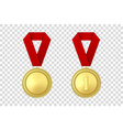 3d realistic gold award medal icon set