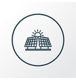 alternative energy icon line symbol premium vector image