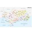 andalusia administrative and political map vector image vector image