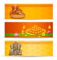 Banner for Ganesh Chaturthi vector image vector image