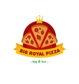 bright pizza restaurant logo Brand sign vector image