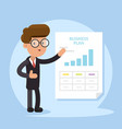 businessman and business plan document vector image