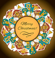 Christmas background with houses vector image vector image