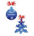 Christmas ball and Christmas tree vector image vector image