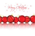 christmas bauble background 1010 vector image vector image