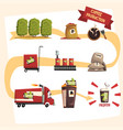 coffee production in process infographic vector image vector image