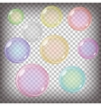 Colorful Bubbles Set vector image vector image