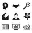 computer facilities icons set simple style vector image vector image