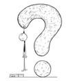 conceptual cartoon of dead businessman hanged on vector image