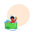 cute little black african american baby infant vector image vector image
