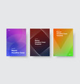 design modern covers with color gradients and vector image vector image