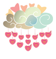 Droplets of heart vector image vector image