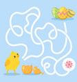easter board game template vector image vector image