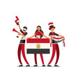 egyptian with egypt flag symbol vector image vector image