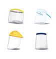 face cover shield set vector image vector image