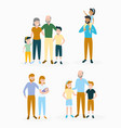 family day set vector image vector image