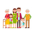 family poster of happy members vector image vector image
