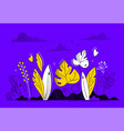 floral composition - modern flat design style vector image