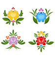 Flower Gorodets painting Russian national folk vector image vector image