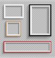 frames set on transparent background vector image