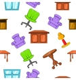 Furniture pattern cartoon style vector image vector image