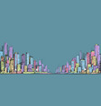 hand drawn panorama of city skyline vector image