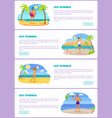 hot summer set of web pages vector image vector image