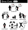 infographic of spine care concept flat design vector image