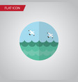 isolated sea flat icon ocean element can vector image