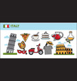 italy travel destination promotional poster with vector image vector image