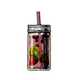 lemonade in mason jar vector image vector image