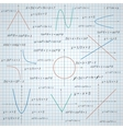 Mathematics paper background vector image