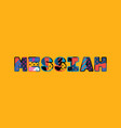 messiah concept word art vector image vector image