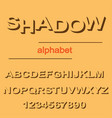 modern shadow font design for typography on orange vector image vector image