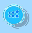 myspace social network sticker icon vector image vector image