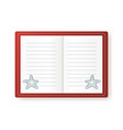 notebook with starfish empty vector image