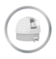 Observatory icon in cartoon style isolated on