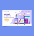 online check-in landing page concept vector image vector image