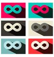Paper Flat Design Infinity Symbols Set vector image vector image