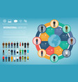 people of different occupations with infographics vector image vector image