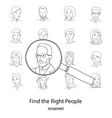 People search square concept vector image vector image