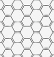 Perforated paper with hexagons forming bee grid vector image vector image