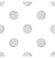 planet earth pattern seamless vector image vector image