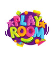 playroom kids logo vector image vector image