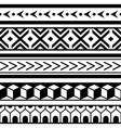 polynesian maori geometric seamless pattern vector image vector image
