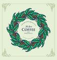 premium logo best coffee organic vector image vector image