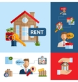 Real Estate Concept Set vector image vector image