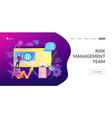 risk managementconcept landing page vector image vector image